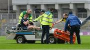 19 February 2017; Kevin Keane of St. Patrick's Westport is helped off the field on a stretcher after picking up an injury in the first half during the AIB GAA Football All-Ireland Intermediate club championship final match between St. Colmcille's and St. Patrick's Westport at Croke Park in Dublin. Photo by Piaras Ó Mídheach/Sportsfile