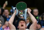 19 February 2017; Kevin Keane of St. Patrick's Westport lifts the cup after the AIB GAA Football All-Ireland Intermediate club championship final match between St. Colmcille's and St. Patrick's Westport at Croke Park in Dublin. Photo by Piaras Ó Mídheach/Sportsfile