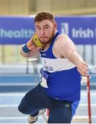19 February 2017; John Kelly of Finn Valley AC, Co Donegal, competing in the Men's Shot Put Event during the Irish Life Health National Senior Indoor Championships at the Sport Ireland National Indoor Arena in Abbotstown, Dublin. Photo by Sam Barnes/Sportsfile