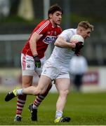12 February 2017; Daniel Flynn of Kildare in action against Ian Maguire of Cork during the Allianz Football League Division 2 Round 2 game between Kildare and Cork at St Conleth's Park in Newbridge, Co. Kildare. Photo by Piaras Ó Mídheach/Sportsfile