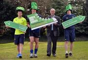20 February 2017; Leinster Rugby players, from left, Luke McGrath, Josh van der Flier, and Nick McCarthy, pictured with Eamonn O'Reilly, Chief Executive of Dublin Port Co., were on hand in UCD today to help launch the Aware Harbour2Harbour Walk which takes place on St Patrick's Day, Thursday, March 17th. This is the 12th year of the annual walk in aid of Aware, one of Leinster Rugby's charity partners, and helps to raise close to €40,000 annually to help fund Aware's nationwide support, education and information services. The Harbour2Harbour Walk takes participants along the spectacularly scenic Dublin Bay and more than 2,000 people are expected to take part. Walkers can choose to walk the 26km/16.2mile route starting in Howth Harbour and walking to Dún Laoghaire Harbour or starting at Dun Laoghaire Harbour and walking to Howth. The walks kick off @ 10.30am on the day.  Registration is now open at www.aware.ie/events  Photo by Cody Glenn/Sportsfile