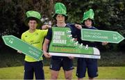 20 February 2017; Leinster Rugby players, from left, Luke McGrath, Josh van der Flier, and Nick McCarthy were on hand in UCD today to help launch the Aware Harbour2Harbour Walk which takes place on St Patrick's Day, Thursday, March 17th. This is the 12th year of the annual walk in aid of Aware, one of Leinster Rugby's charity partners, and helps to raise close to €40,000 annually to help fund Aware's nationwide support, education and information services. The Harbour2Harbour Walk takes participants along the spectacularly scenic Dublin Bay and more than 2,000 people are expected to take part. Walkers can choose to walk the 26km/16.2mile route starting in Howth Harbour and walking to Dún Laoghaire Harbour or starting at Dun Laoghaire Harbour and walking to Howth. The walks kick off @ 10.30am on the day.  Registration is now open at www.aware.ie/events  Photo by Cody Glenn/Sportsfile