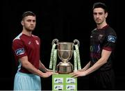 20 February 2017; Christopher McCarthy of Cobh Ramblers and Ross Kenny of Wexford Youths in attendance at the SSE Airtricity League Launch 2017 at the Aviva Stadium in Lansdowne Road in Dublin. Photo by Seb Daly/Sportsfile