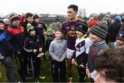 19 February 2017; Lee Chin of Wexford with supporters after the Allianz Hurling League Division 1B Round 2 match between Galway and Wexford at Pearse Stadium in Galway. Photo by David Maher/Sportsfile