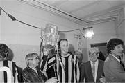 5 September 1982; Kilkenny captain Brian Cody brings the Liam MacCarthy cup into the Kilkenny dressing-room after the Cork v Kilkenny, All Ireland Hurling Final, Croke Park, Dublin. Picture credit; Ray McManus/SPORTSFILE