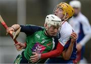 24 February 2017; David Reidy of Limerick IT in action against Colm Galvin of Mary Immaculate College Limerick during the Independent.ie HE GAA Fitzgibbon Cup semi-final match between Mary Immaculate College Limerick and Limerick IT at Dangan, in Galway. Photo by Piaras Ó Mídheach/Sportsfile