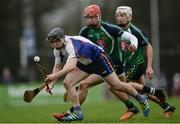 24 February 2017; Michael O'Neill of Mary Immaculate College Limerick in action against Willie Ryan of Limerick IT during the Independent.ie HE GAA Fitzgibbon Cup semi-final match between Mary Immaculate College Limerick and Limerick IT at Dangan, in Galway. Photo by Piaras Ó Mídheach/Sportsfile