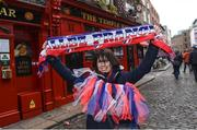 24 February 2017; Marine Guillermic from Paris enjoying the build up prior to the RBS Six Nations Rugby Championship match between Ireland and France at Temple Bar in Dublin. Photo by David Fitzgerald/Sportsfile