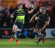 24 February 2017; Joey Carbery of Leinster collects his own kick ahead in the build up to his side's fourth try during the Guinness PRO12 Round 16 match between Newport Gwent Dragons and Leinster at Rodney Parade in Newport, Wales. Photo by Stephen McCarthy/Sportsfile