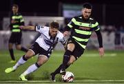 24 February 2017; Brandon Miele of Shamrock Rovers in action against Conor Clifford of Dundalk during the SSE Airtricity League Premier Division match between Dundalk and Shamrock Rovers at Oriel Park, in Dundalk. Photo by David Maher/Sportsfile