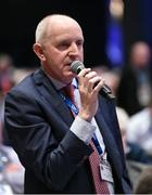 25 February 2017; Michael Larkin, Chairman Galway Hurling Board, speaking in favour of Motion 4 during the 2017 GAA Annual Congress at Croke Park, in Dublin. Photo by Ray McManus/Sportsfile