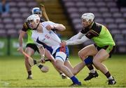 25 February 2017; Aaron Gillane of Mary Immaculate College Limerick in action against Ross Brown of IT Carlow during the Independent.ie HE GAA Fitzgibbon Cup Final match between IT Carlow and Mary Immaculate College Limerick at Pearse Stadium in Galway. Photo by Matt Browne/Sportsfile