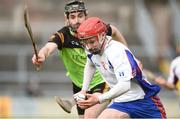 25 February 2017; Thomas Monaghan of Mary Immaculate College Limerick in action against Robert Moran of IT Carlow during the Independent.ie HE GAA Fitzgibbon Cup Final match between IT Carlow and Mary Immaculate College Limerick at Pearse Stadium in Galway. Photo by Matt Browne/Sportsfile