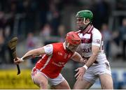 25 February 2017; David Tracey of Cuala in action against Sean Cassidy of Slaughtneil during the AIB GAA Hurling All-Ireland Senior Club Championship Semi-Final match between Cuala and Slaughtneil at the Athletic Grounds in Armagh. Photo by Eóin Noonan/Sportsfile