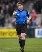 25 February 2017; Referee Colm Lyons during the AIB GAA Hurling All-Ireland Senior Club Championship Semi-Final match between Cuala and Slaughtneil at the Athletic Grounds in Armagh. Photo by Eóin Noonan/Sportsfile