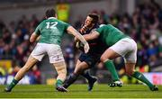 25 February 2017; Camille Lopez of France is tackled by Rory Best, right, and Robbie Henshaw of Ireland during the RBS Six Nations Rugby Championship game between Ireland and France at the Aviva Stadium in Lansdowne Road, Dublin. Photo by Ramsey Cardy/Sportsfile
