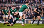 25 February 2017; Conor Murray of Ireland is tackled by Kevin Gourdon of France during the RBS Six Nations Rugby Championship game between Ireland and France at the Aviva Stadium in Lansdowne Road, Dublin. Photo by Stephen McCarthy/Sportsfile