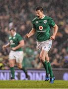25 February 2017; Jonathan Sexton of Ireland celebrates after scoring a drop goal during the RBS Six Nations Rugby Championship game between Ireland and France at the Aviva Stadium in Lansdowne Road, Dublin. Photo by Brendan Moran/Sportsfile