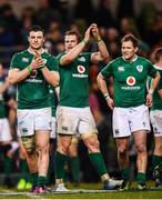 25 February 2017; Ireland players, from left, Robbie Henshaw, Jamie Heaslip and Kieran Marmion following the RBS Six Nations Rugby Championship game between Ireland and France at the Aviva Stadium in Lansdowne Road, Dublin. Photo by Stephen McCarthy/Sportsfile