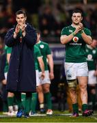 25 February 2017; Ireland Jonathan Sexton, left, and Robbie Henshaw following the RBS Six Nations Rugby Championship game between Ireland and France at the Aviva Stadium in Lansdowne Road, Dublin. Photo by Stephen McCarthy/Sportsfile