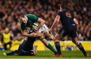 25 February 2017; Devin Toner of Ireland is tackled by Charles Ollivon, left, and Louis Picamoles of France during the RBS Six Nations Rugby Championship game between Ireland and France at the Aviva Stadium in Lansdowne Road, Dublin. Photo by Stephen McCarthy/Sportsfile
