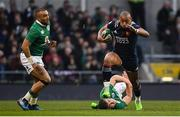 25 February 2017; Gael Fickou of France is tackled by Garry Ringrose of Ireland during the RBS Six Nations Rugby Championship game between Ireland and France at the Aviva Stadium in Lansdowne Road, Dublin. Photo by Ramsey Cardy/Sportsfile