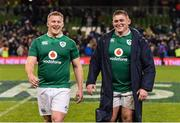 25 February 2017; John Ryan, left, and Tadhg Furlong of Ireland after the RBS Six Nations Rugby Championship game between Ireland and France at the Aviva Stadium in Lansdowne Road, Dublin. Photo by Brendan Moran/Sportsfile