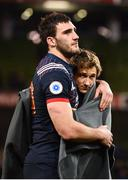25 February 2017; Charles Ollivon, left, and Baptiste Serin of France following the RBS Six Nations Rugby Championship game between Ireland and France at the Aviva Stadium in Lansdowne Road, Dublin. Photo by Stephen McCarthy/Sportsfile