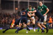 25 February 2017; Jamie Heaslip of Ireland is tackled by France players, from left, Yohann Maestri, Remi Lamerat and Kevin Gourdon during the RBS Six Nations Rugby Championship game between Ireland and France at the Aviva Stadium in Lansdowne Road, Dublin. Photo by Stephen McCarthy/Sportsfile