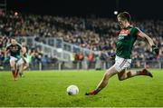 25 February 2017; Cillian O'Connor of Mayo scores his side's first goal from a penalty during the Allianz Football League Division 1 Round 3 match between Mayo and Roscommon at Elverys MacHale Park in Castlebar, Co Mayo. Photo by Seb Daly/Sportsfile
