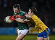 25 February 2017; Diarmuid O'Connor of Mayo in action against David Murray of Roscommon during the Allianz Football League Division 1 Round 3 match between Mayo and Roscommon at Elverys MacHale Park in Castlebar, Co Mayo. Photo by Seb Daly/Sportsfile