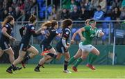 26 February 2017; Lindsay Peat of Ireland makes a break during the RBS Women's Six Nations Rugby Championship match between Ireland and France at Donnybrook Stadium in Donnybrook, Dublin. Photo by Sam Barnes/Sportsfile