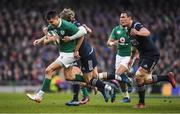 25 February 2017; Conor Murray of Ireland is tackled by Baptiste Serin of France during the RBS Six Nations Rugby Championship game between Ireland and France at the Aviva Stadium in Lansdowne Road, Dublin. Photo by Brendan Moran/Sportsfile