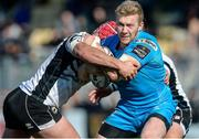 26 February 2017; Stuart Olding of Ulster is tackled by Dennis Bergamin of Zebre during the Guinness PRO12 Round 16 match between Zebre and Ulster at Stadio Sergio Lanfranchi in Parma, Italy. Photo by Massimiliano Pratelli/Sportsfile