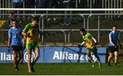 26 February 2017; Ryan McHugh of Donegal celebrates after scoring his side's second goal during the Allianz Football League Division 1 Round 3 match between Donegal and Dublin at MacCumhaill Park in Ballybofey, Co Donegal. Photo by Stephen McCarthy/Sportsfile