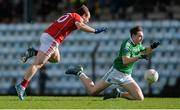26 February 2017; Paddy Reihill of Fermanagh in action against Brian O'Driscoll of Cork during the Allianz Football League Division 2 Round 3 match between Cork and Fermanagh at Páirc Uí Rinn in Cork. Photo by Piaras Ó Mídheach/Sportsfile