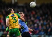 26 February 2017; Eoghan O'Gara of Dublin in action against Neil McGee of Donegal during the Allianz Football League Division 1 Round 3 match between Donegal and Dublin at MacCumhaill Park in Ballybofey, Co Donegal. Photo by Stephen McCarthy/Sportsfile