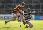 26 February 2017; Evan Shefflin of St Kieran's College in action against Niall Brassil of Kilkenny CBS during the Top Oil Leinster Colleges senior hurling championship final between St Kieran's and Kilkenny CBS at Nowlan Park in Kilkenny. Photo by Seb Daly/Sportsfile