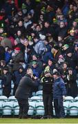 26 February 2017; Donegal manager Rory Gallagher, left, and Dublin manager Jim Gavin are photographed by Sportsfile photographer Philip Fitzpatrick following the Allianz Football League Division 1 Round 3 match between Donegal and Dublin at MacCumhaill Park in Ballybofey, Co Donegal. Photo by Stephen McCarthy/Sportsfile