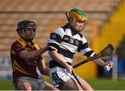 26 February 2017; Ciarán Breannan of St Kieran's College in action against Mickey Butler of Kilkenny CBS during the Top Oil Leinster Colleges senior hurling championship final between St Kieran's and Kilkenny CBS at Nowlan Park in Kilkenny. Photo by Seb Daly/Sportsfile