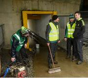 26 February 2017; Donegal manager Rory Gallagher talks with the groundsmen ahead of the Allianz Football League Division 1 Round 3 match between Donegal and Dublin at MacCumhaill Park in Ballybofey, Co. Donegal. Photo by Philip Fitzpatrick/Sportsfile