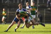 26 February 2017; Anthony Maher of Kerry is tackled by Kieran Duffy of Monaghan during the Allianz Football League Division 1 Round 3 match between Kerry and Monaghan at Fitzgerald Stadium in Killarney, Co. Kerry. Photo by Brendan Moran/Sportsfile