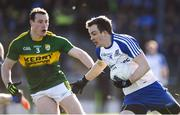 26 February 2017; Jack McCarron of Monaghan in action against Mark Griffin of Kerry during the Allianz Football League Division 1 Round 3 match between Kerry and Monaghan at Fitzgerald Stadium in Killarney, Co. Kerry. Photo by Brendan Moran/Sportsfile