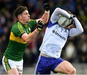 26 February 2017; Fintan Kelly of Monaghan in action against Paul Geaney of Kerry during the Allianz Football League Division 1 Round 3 match between Kerry and Monaghan at Fitzgerald Stadium in Killarney, Co. Kerry. Photo by Brendan Moran/Sportsfile