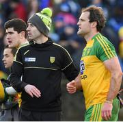 26 February 2017; Donegal manager Rory Gallagher and Micheal Murphy after the Allianz Football League Division 1 Round 3 match between Donegal and Dublin at MacCumhaill Park in Ballybofey, Co. Donegal. Photo by Philip Fitzpatrick/Sportsfile