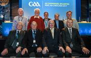 24 February 2017; Uachtarán-Tofa  John Horan, front row - second from right, with Dublin delegates, back row left to right, John McNicholas, Donal Hickey, Damian Murphy, Jim Roche and Mick Seavers, front row, l to r, Noel Murphy, Sean Shanley, Chairman, Kohn Horan and John Costello, CEO, Dublin County Board after the 2017 GAA Annual Congress at Croke Park, in Dublin. Photo by Ray McManus/Sportsfile