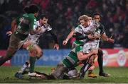 3 March 2017; Stuart Olding of Ulster is tackled by Marco Lazzaroni of Benetton Treviso during the Guinness PRO12 Round 17 match between Ulster and Benetton Treviso at the Kingspan Stadium in Belfast. Photo by Ramsey Cardy/Sportsfile