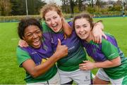 4 March 2017; CYM players from left, Promise Chapwanya, Diane McIlhagga and Caoimhe Brady following the Leinster Women's League Division 2 Playoffs match between Tullow and CYM at Donnybrook Stadium in Donnybrook, Dublin. Photo by Eóin Noonan/Sportsfile