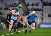 4 March 2017; Austin Gleeson of Waterford in action against Shane Barrett of Dublin during the Allianz Hurling League Division 1A Round 3 match between Dublin and Waterford at Croke Park in Dublin. Photo by Brendan Moran/Sportsfile