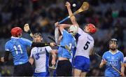 4 March 2017; Tadhg de Burca, right and Barry Coughlan of Waterford compete for a dropping ball with Dublin players, from left, Ryan O'Dwyer, Eoghan Conroy and Donal Burke during the Allianz Hurling League Division 1A Round 3 match between Dublin and Waterford at Croke Park in Dublin. Photo by Brendan Moran/Sportsfile